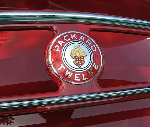 1936 Packard Twelve convertible coupe badge