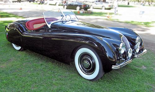 1950 Jaguar XK120-OTS front 3q