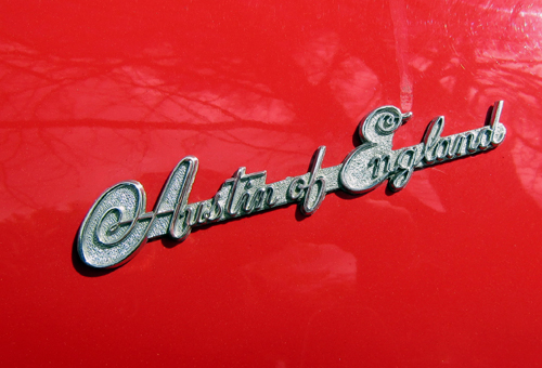 1953 Austin-Healey 100 boot badge