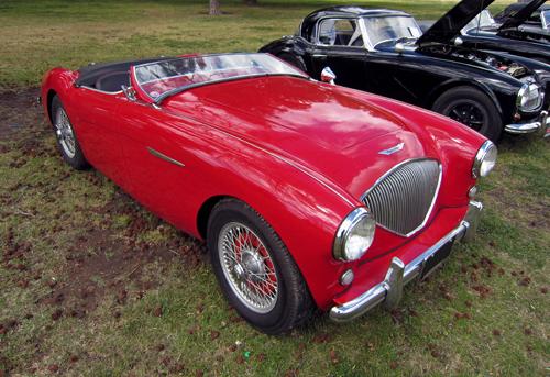 1953 Austin-Healey 100 front 3q