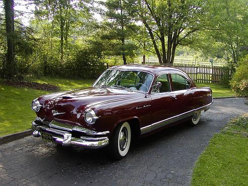 1953 Kaiser Manhattan front 3q