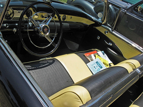 1954 Buick Skylark interior
