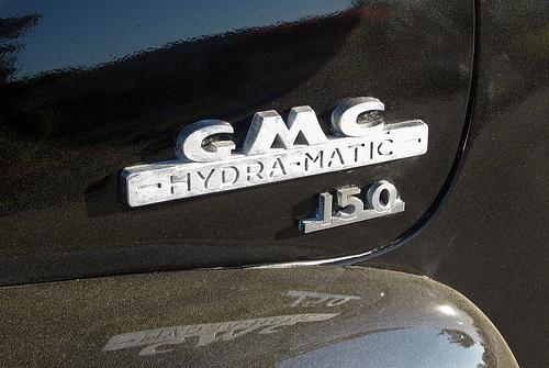 1954 GMC 150 pickup Hydra-Matic badge © 2009 Aaron Severson
