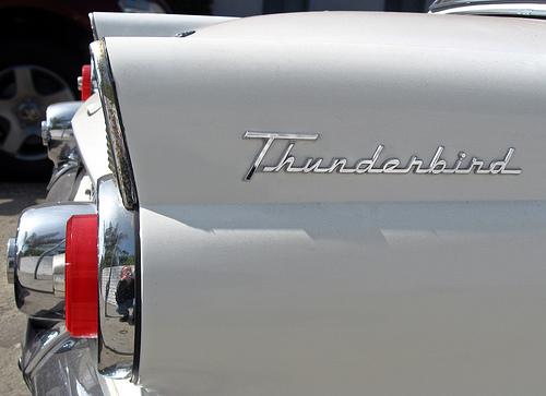 1955 Ford Thunderbird tail badge