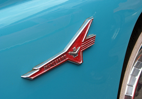1956 Ford Fairlane Thunderbird badge