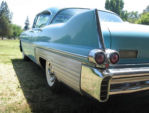 1957 Cadillac Fleetwood Sixty Special rear 3q