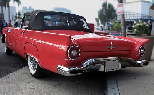 1957 Ford Thunderbird rear 3q