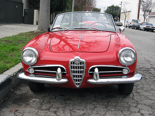 1958 Alfa Romeo Giulietta Spider 1300 front view
