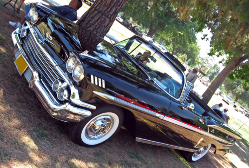 1958 Chevrolet Impala convertible front 3q © 2009 Aaron Severson