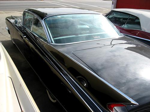 1960 Cadillac Eldorado Seville rear 3q view