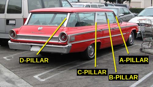 1963 Ford Country Sedan wagon pillars