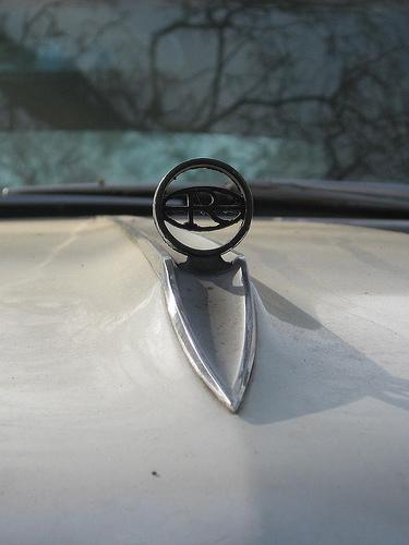 1965 Riviera hood ornament close-up