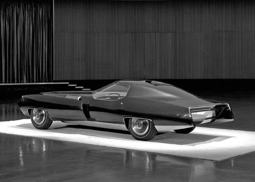1966 Cadillac XP-840 model rear 3q D-70415 - Copyright 2010 General Motors LLC. Used with permission, GM Design. (GMMA 14416 part 2)