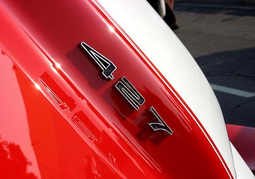 1966 Chevrolet Corvette 427 hood callouts