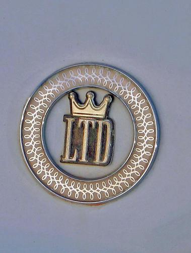 1966 Ford LTD hardtop emblem
