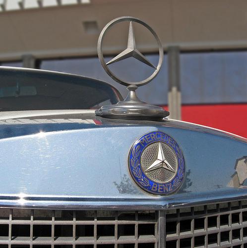 1966 Mercedes 250SE coupe hood ornament