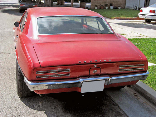 1967 Pontiac Firebird rear view
