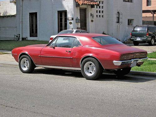 1967 Pontiac Firebird rear 3q view