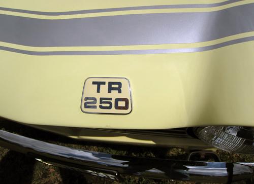 1968 Triumph TR250 badge