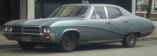 1969 Buick Skylark sedan front 3q © 2010 BullDoser PD