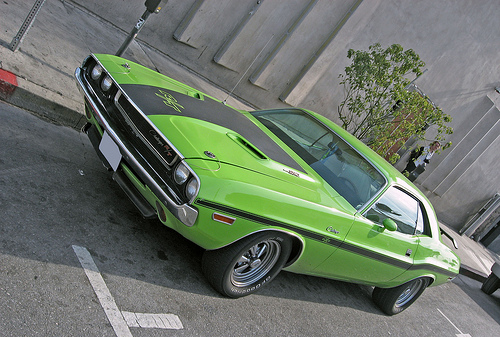 1970 Dodge Challenger R/T front 3q view