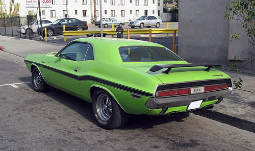 1970 Dodge Challenger R/T rear 3q view
