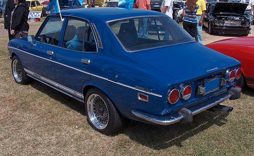 1972 Mazda RX-2 sedan rear 3q