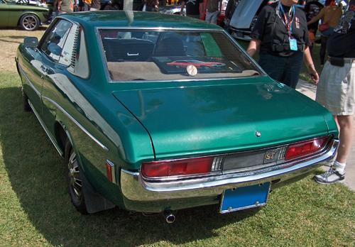 1972 Toyota Celica ST hardtop (RA21L) rear 3q © 2011 Aaron Severson