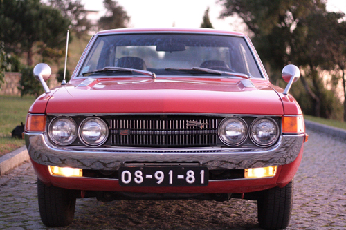 1973 Toyota Celica 1600ST hardtop (TA22) front © 2011 Lino Manuel Araújo Pinheiro (with permission)