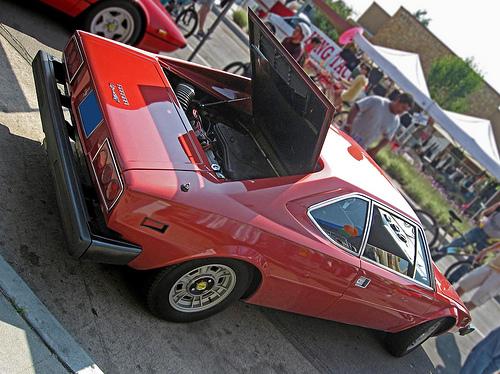 1975 Dino 308 GT4 rear 3q view