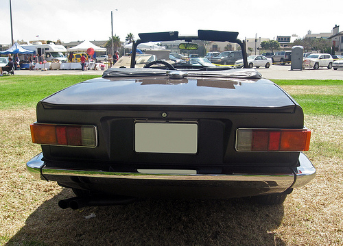 1975 Triumph TR6 rear