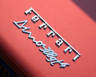 1975 Dino 308 GT4 badge