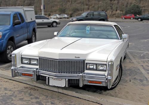 1976 Cadillac Eldorado convertible front view