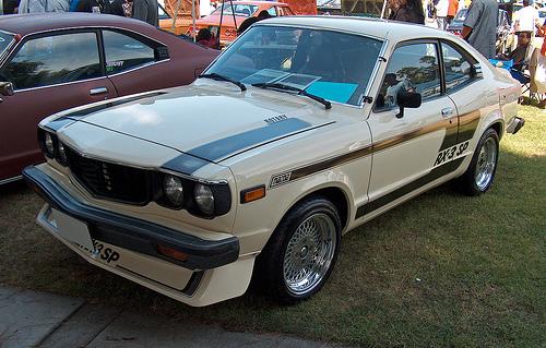 1977 Mazda RX-3SP front 3q