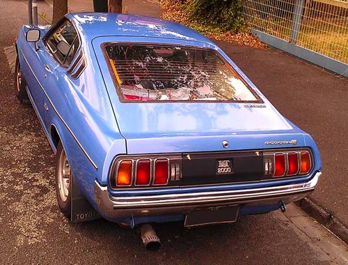 1977 Toyota Celica 2000LT Liftback (RA28) rear 3q © 2014 Don Andreina (with permission)