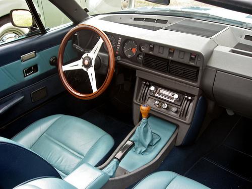 1981 Triumph TR8 convertible blue dash