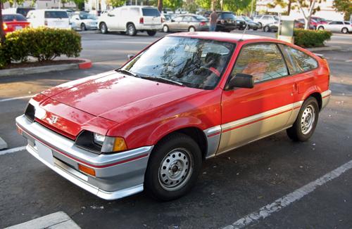 red 1984 Honda CRX front 3q