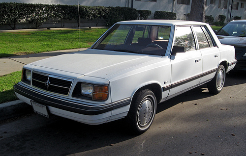 1988 Dodge Aries front 3q