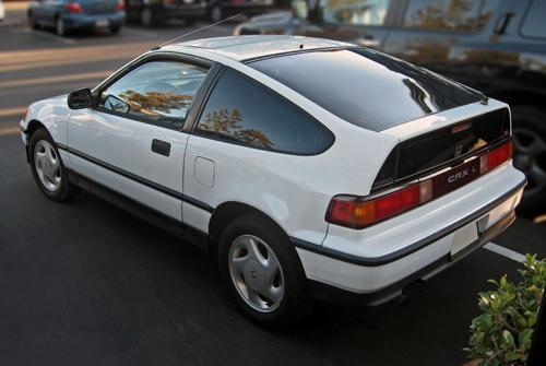 1991 Honda CRX Si rear 3q © 2010 Aaron Severson
