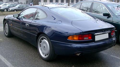 1994 Aston Martin DB7 Coupe rear 3q © 2008 Rudolf Stricker (CC-BYSA 3.0 Unported)